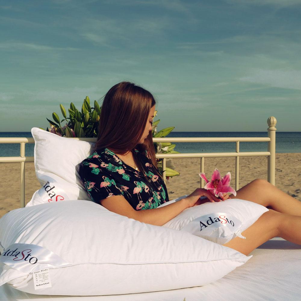 dreikammer kissen 80x80 kopfkissen 1600g daunen federn ebay. Black Bedroom Furniture Sets. Home Design Ideas
